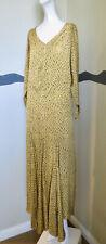 Vintage 1930s Silk Dress Gored Skirt LRG SZ