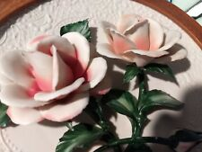 Franklin Mint Limited Edition The Roses Of Capodimonte 3D Plate With Coa