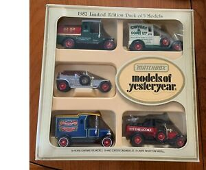 Lesney Matchbox Model of Yesteryear 1982 Limited Edition set of 5 models