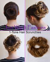 *1-Tone* Elastic Hair Piece Bun Scrunchie Scrunchy Like Human Hair Extension