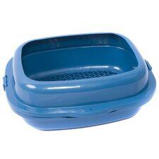 Favorite High Sided 2 Pine Sifter Cat Litter Box, Blue