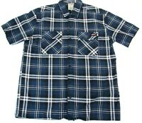 Dickies Mens Size Large Plaid Heavy Cotton Flannel Shirt Cotton