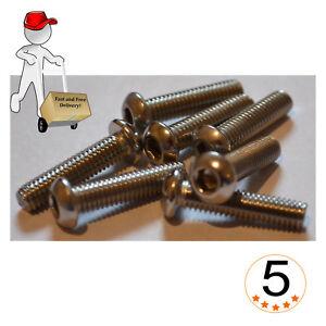 BUTTON HEAD SCREWS A2 STAINLESS STEEL M4,M5,M6 FIT ALLEN KEY