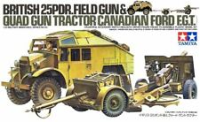Tamiya British 25PDR Gun & Quad Tractor 1/35 Scale Kit #35044