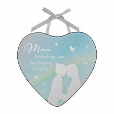 Mum Everything Glass Heart Mirror Wall Hanging Plaque Gift Sentimental Keepsake