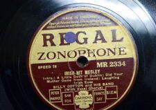 78 rpm BILLY COTTON BAND irish hit medley / three hits of 1936