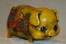 Vintage 60's Retro Mod flower child Piggy Bank cute little pig!