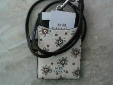 "~COACH Lanyard Signature ""First Bud"" Chalk Multi Badge Holder NWT!~"