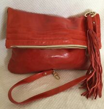 NWT Large ESPRIT All Leather Clutch/Shoulder Bag / Handbag, RRP AUD199