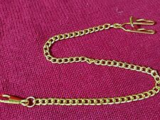 "Pocket Watch Chain Gold Look 14 1/2"" Long With Velour Gift Bag ***Brand New***"