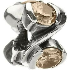 Authentic Chamilia Element Charm Silver Forever Light Brown Stone Bead JB-18B