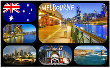 MELBOURNE, AUSTRALIA - SOUVENIR NOVELTY FRIDGE MAGNET - NEW - GIFT / XMAS