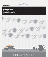 9 ft (environ 2.74 m) Crânes Garland Halloween Suspendu Fête Décoration