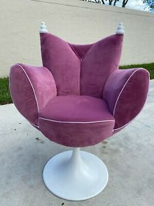ALTA MODA HOME UNIQUE BABOLL SWIVEL CHAIR W/ METAL BASE MADE IN ITALY