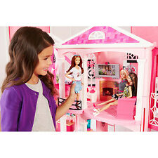 Barbie_Doll_House_Girls_Toy_Dreamhouse_Three_Story_Furnished_Dream_Playhouse_Bed