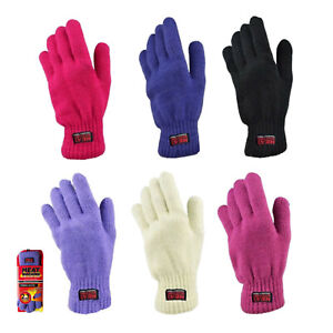 Ladies Womens Insulated Knitted Extra Warm 2.3 Tog Soft Thermal Winter Gloves
