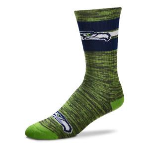 Seattle Seahawks Football Green RMC & Navy Deuce First String Crew Socks