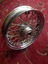 "indian chief spirit front wheel 16"" 60 spoke gilroy 99-03 harley softail custom"