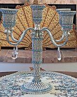 Candelabra 5 light Swarovski Crystal Encrusted Handcraft ISABELLA ADAMS   $3,199