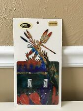 Light Switch Plate Cover - DOUBLE - Decorative/Reversible - DRAGONFLY