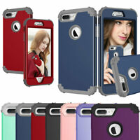 For iPhone 8 7 Plus SE 2nd 2020 Hybrid Rubber Heavy Duty Rugged Hard Cover Case