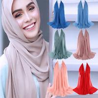 Women Premium Viscose Maxi Crinkle Cloud Hijab Scarf Shawl Soft Islam Muslim P