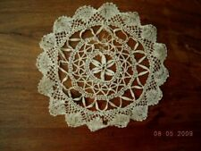 antique victorian Handmade Lace Delicate Doiley scalled edge B5