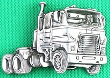 "Belt Buckle ""Semi Trailer Truck"" 3.8cm Wide Belt, DIY, Custom, Metal Casting."