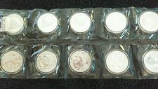 2002 China Silver Panda Coins 10 Yuan - Quantity 10 Original Mint Sheets