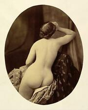 Antique Photo... Victorian Era Woman Nude Back ... Photo Print