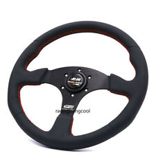 14inch Red Line Mugen Genuine Leather Steering Wheel Tuning Steering Wheel