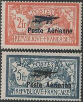 "FRANCE POSTE AERIENNE 1/2 "" MERSON 2F ET 5F SALON AVIATION 1927"" NEUFSxxTTB J940"
