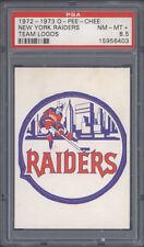 1972 1972-73 1973 NEW YORK RAIDERS WHA HOCKEY TEAM LOGOS ~ PSA 8.5