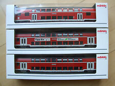 Märklin 43585 / 43586 / 43591 Tipp-Ex Doppelstockwagen alle m. Innenbeleuchtung