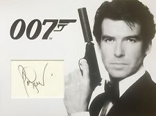 PIERCE BROSNAN AUTHENTIC SIGNED 16X12 PHOTO MOUNT AFTAL & UACC [14557] PROOF