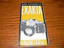 Vintage Exakta VX-IIa Camera Brochure~Excellent Condition