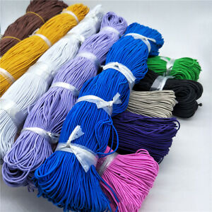 160M 1.2mm Elastic Cord Round Band Rope Rubber Stretch String Sewing DIY Craft