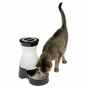 Healthy Pet Water Station Dog Cat Water System Stainless Steel Bowl Small 64 oz.