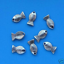 20 Tibetan Silver Goldfish Charms Pendant  Gold Fish