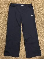 Adidas Climalite Womens L Blue Polyester Blend Stretch Athletic Capris Pants A37