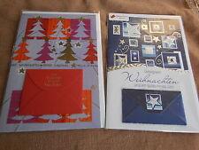 NEU -  2 x Doppelkarte/ Geldscheinkarte WEIHNACHTEN mit Einlegeblatt + Umschlag