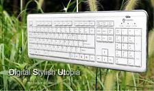 Tastatur slim deutsch weiß/chrom USB NEUWARE z. T. VERGILBT