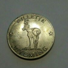 VINTAGE GILLETTE WYOMING HOME OF THE ANTELOPE TOKEN