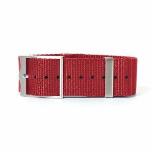 Nylon Watch Band Strap Sport Military Parachute Army Quality Bracelet 19mm 22mm