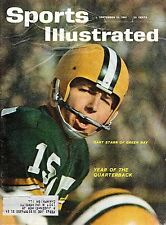 1961 9/25 Sports Illustrated,Football Magazine,Bart Starr,Green Bay Packers ~ Fr
