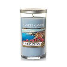 YANKEE Candle Medium pilastro candela Tumbler Blu Riviera Escape NUOVA
