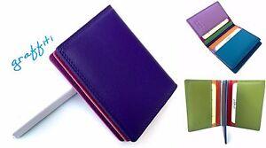 Golunski Multi Coloured Compact Leather Credit Card Holder 7-114 RFID Protected
