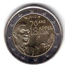 "FRANCIA FRANCE 2 EUROS 2010 ""CHARLES DE GAULLE "" UNC"