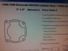 Kawasaki KDX200  Cylinder Base Gasket 1986 1987 1988