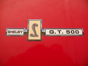 "Shelby Cobra GT 500 badge sticker decal 6""x1.7"""